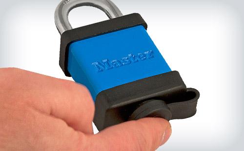 Feche a proteção para a chave para proteger
