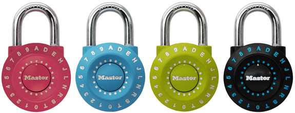 Master Lock introduces Worlds first set your own combination lock using letter and numbers, number 1590D