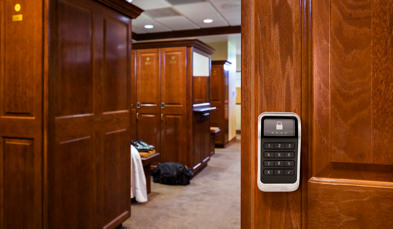 Electronic Locker Lock On Door