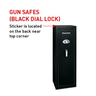 Gun Safes (Black Dial Lock)