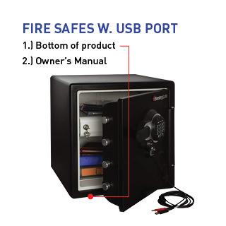 Fire Safes W. USB Port