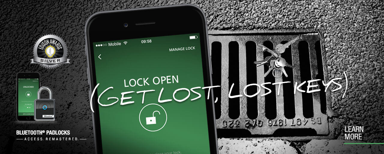 Master Lock Bluetooth<sup>&reg;</sup> Padlocks