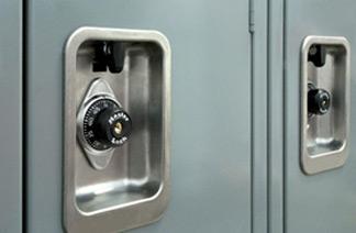 Built-in ADA compliant locks in use
