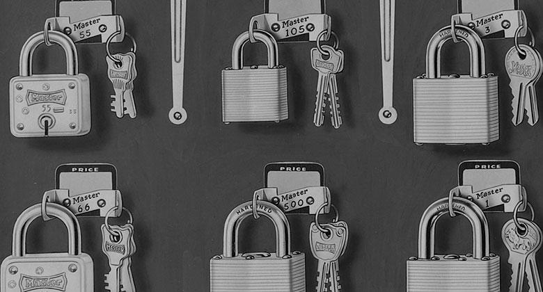 Master Lock Locks in 1950s