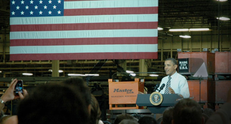 President Obama Visits Master Lock to Discuss American Manufacturing