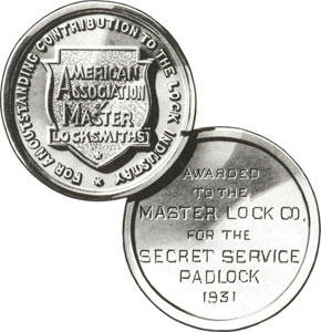 Soref receives a gold medal from the American Association of Master Locksmiths