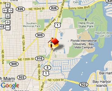 Map of Master Lock Florida