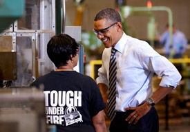 President Obama at Master Lock