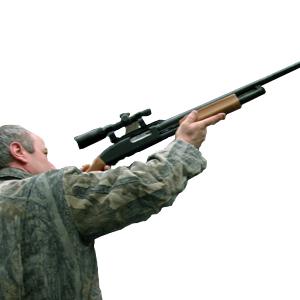 Armas, equipamento de caça e tiro