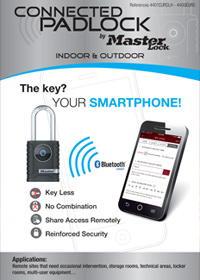 Bluetooth Connected Padlock