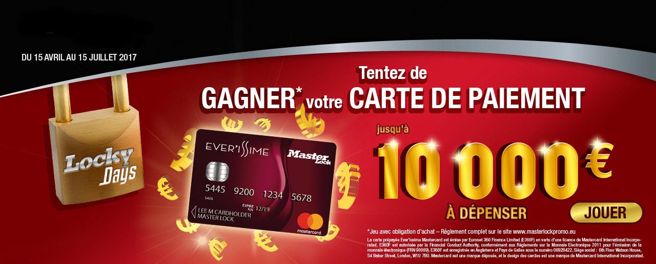 Gagnez une carte prépayée MasterCard