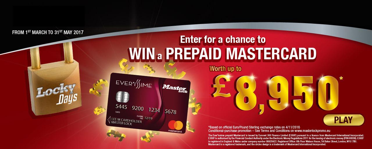 Win a Prepaid MasterCard