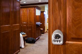 Built-in multi-user mechanical locks in use