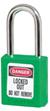 Cadeado termoplástico Zenex™ Série 400 verde