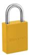 Cadeados de alumínio revestidos a pó Série S6835 amarelo