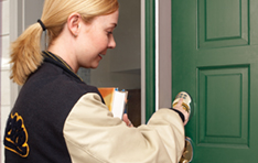 Door Hardware: Girl unlocking door