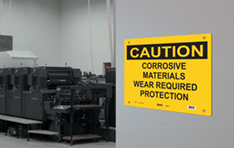 Safety Solutions: Sign tag on factory door