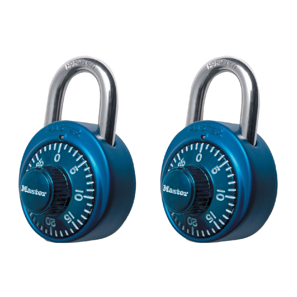 1 78in 48mm wide standard combination dial padlock with aluminum cover
