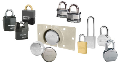 Master Lock Edge Lock Collage of Padlocks