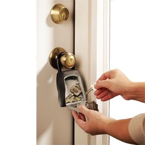 Almacenamiento de llaves y tarjetas de acceso extras