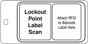 S4500RFBC Lockout Point Label Scan ID Tag