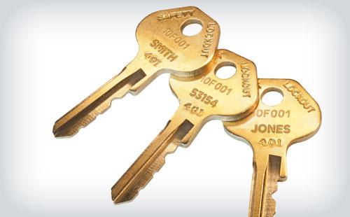 Schlüssel-Gravuren