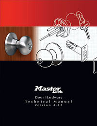 Master Lock Door Hardware Manual