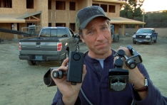 Truck Bed Security: Mike Rowe showing truck bed security products
