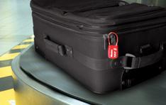 Luggage Locks: Lock shown on piece of suitcase
