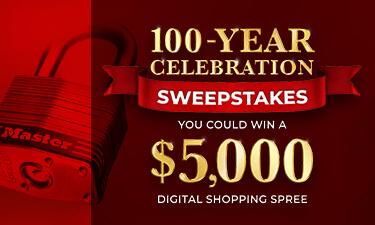Master lock 100-Year Celebration Sweepstakes