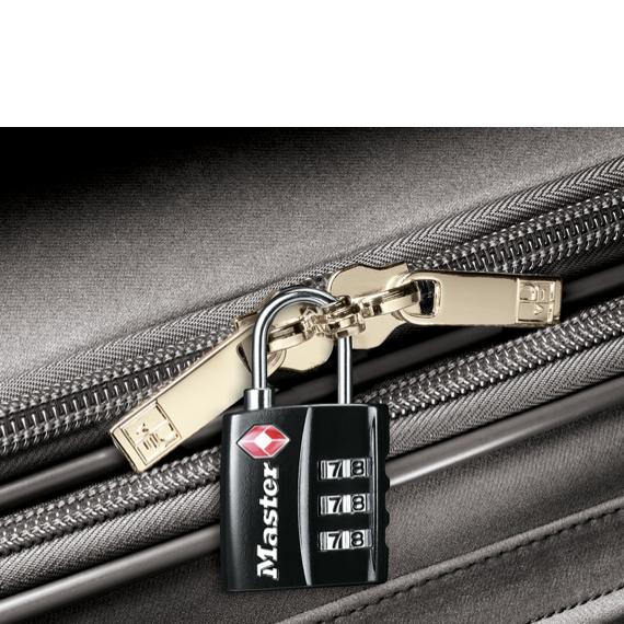 Master Lock wide set your own combination TSA-accepted luggage lock.