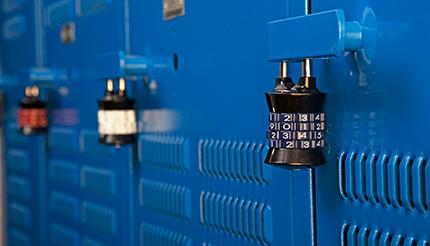 Custom combination locks on lockers