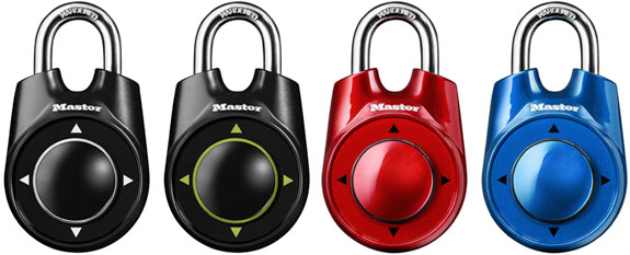 Master Lock introduces World's first combination lock that opens in left right up down movements, number 1500iD