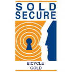 Sold Secure Gold Bicycle logo