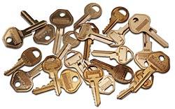 Diverse Master Lock Schlüssel ohne Stifteinstellung