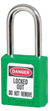 Green 400 Series Zenex™ Thermoplastic Padlock