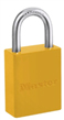 Yellow S6835 Series Powder Coated Aluminum Padlocks