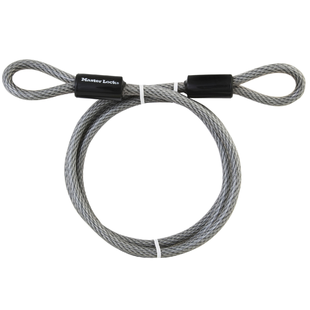 72DPF Long Master Lock Cable 15 ft Steel With Looped Ends