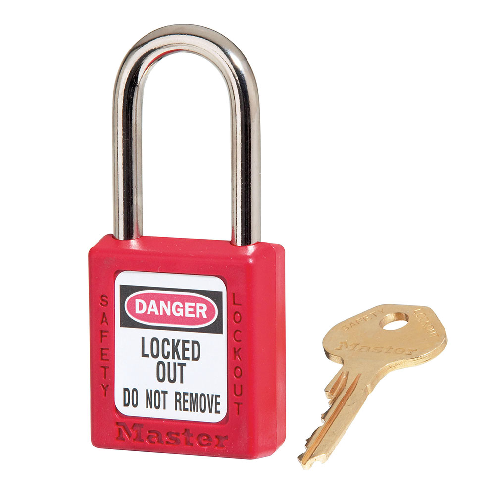 LOTO Lock Out Tag Out Aluminum Body Steel Shackle Key Retaining Safety Padlock