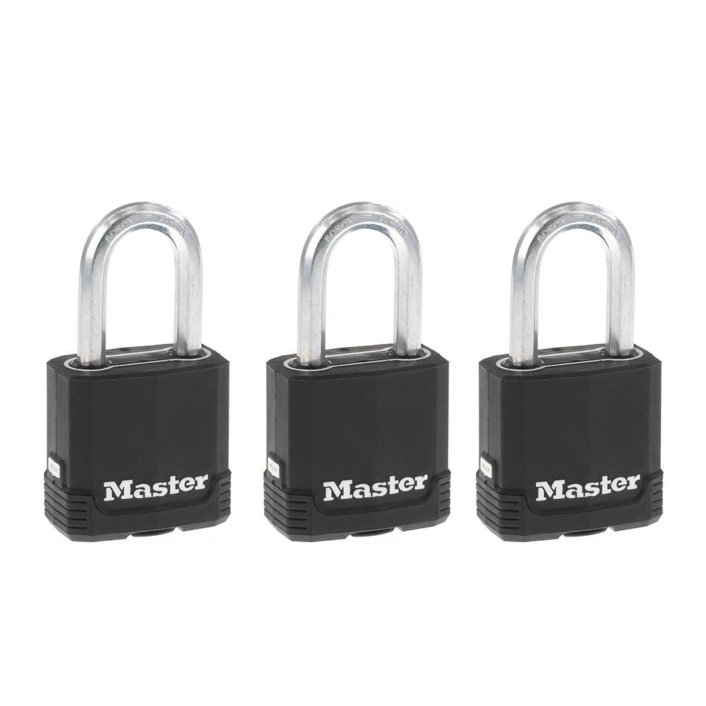 3//10,2/cm Cadenas cl/és identiques/ /1 /quantit/é 10 Master Lock recouvert de M115kalf Climatiques extr/êmes/