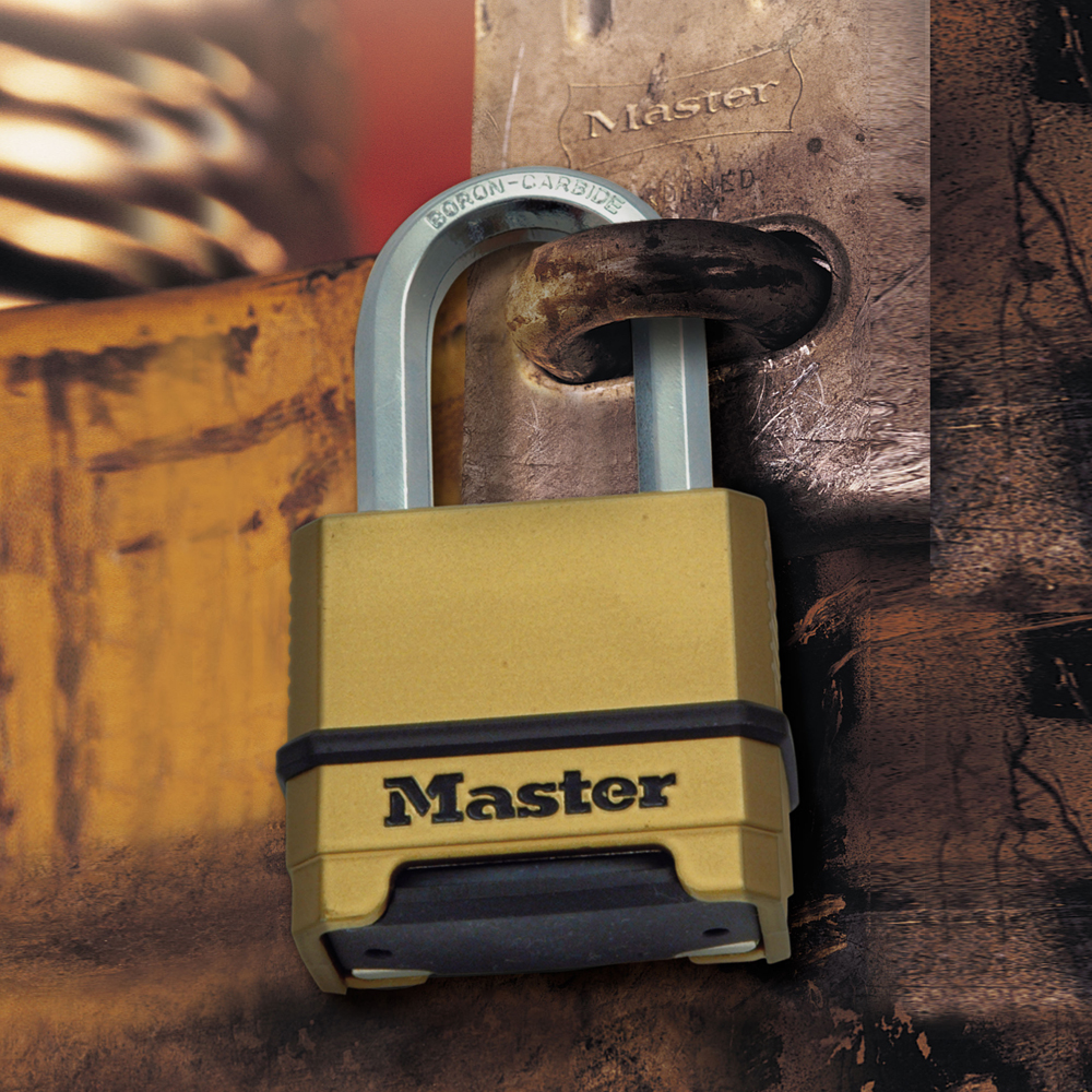 Master Lock Thermo M175 Long Shackle Combination Padlock Made 4 Dial Die Cast